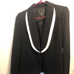 Black white blazer